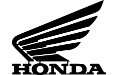 Honda Motorcycle Wing dxf File