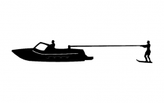 Kneeboard Fixed Skier Boat dxf File