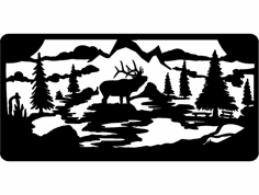 Elk Wall dxf File