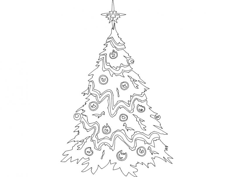 Festive Things Christmas Tree dxf File