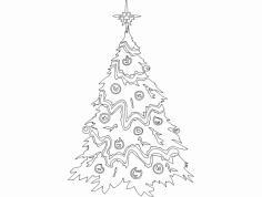 Festive Things Christmas Tree dxf File