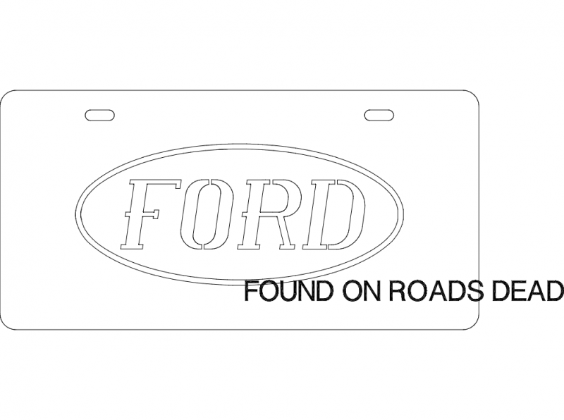 Ford plate dxf File
