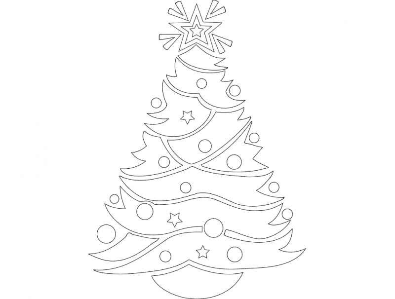 Festive Things 05 dxf File