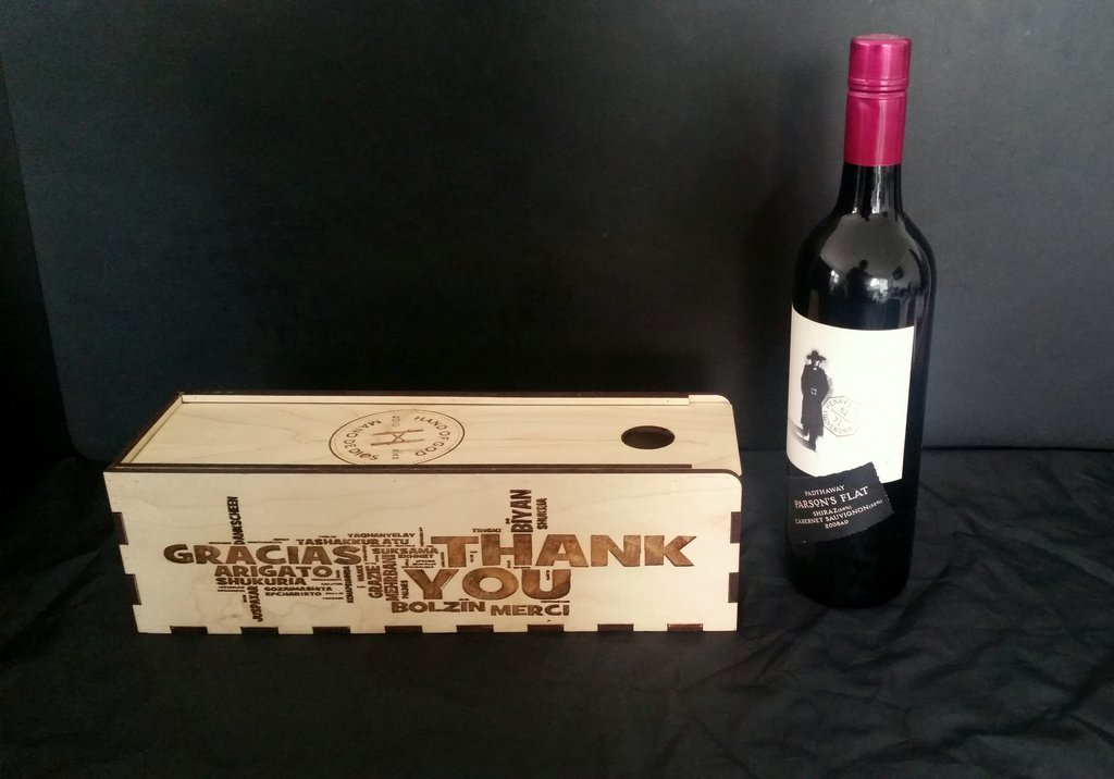 Wine Gift Box dxf File