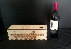Wine Gift Box dxf File