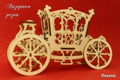 Laser Cut Decorative Cart PDF File