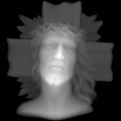 Jesus Grayscale Image BMP File