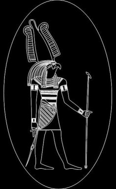 Ancient Egyptian Gods dxf File