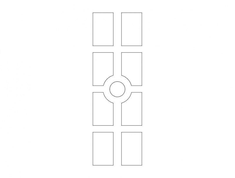 Mdf Door Design 19 dxf File