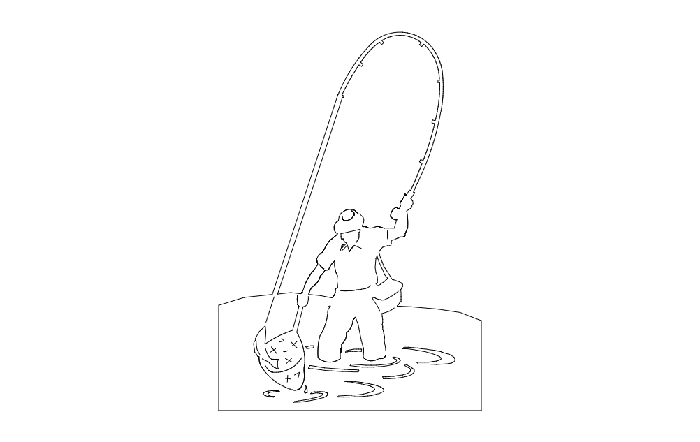 Fisherman dxf File