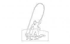 Fisherman dxf File