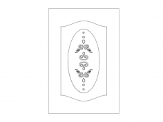 Pattern design doors dxf File