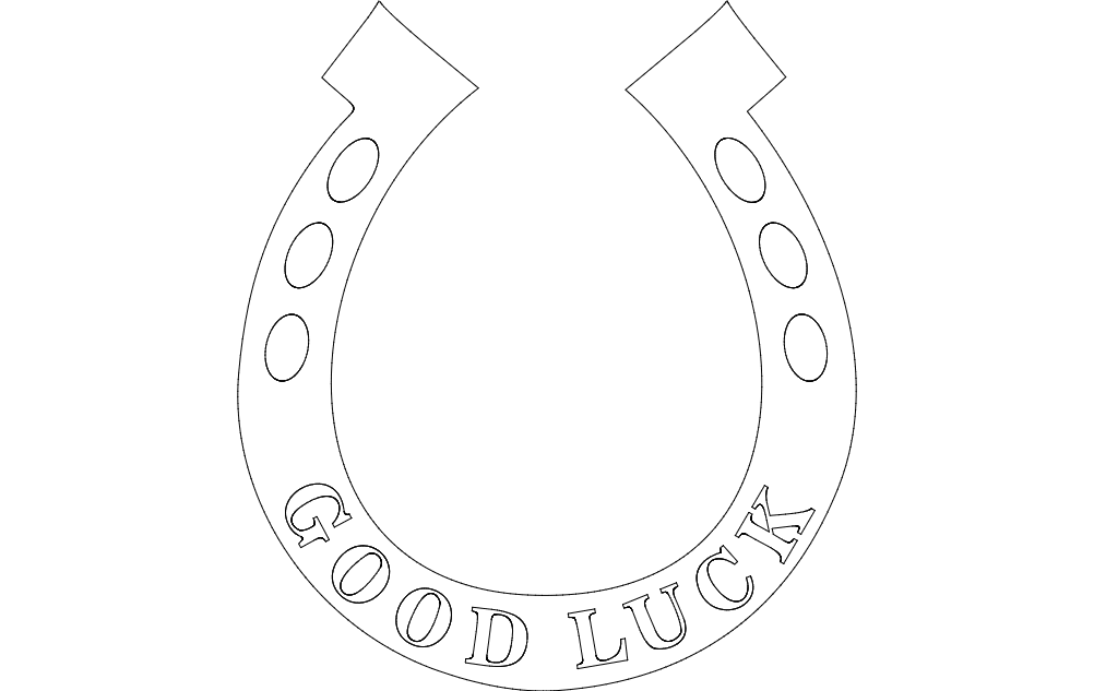 Horse Shoe dxf File