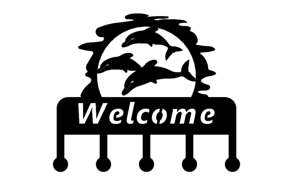 Welcome Dolphin dxf File