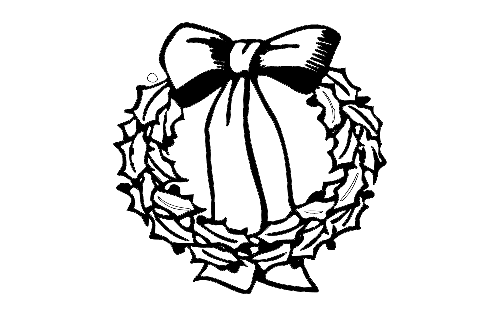 Xmas Wreath dxf File