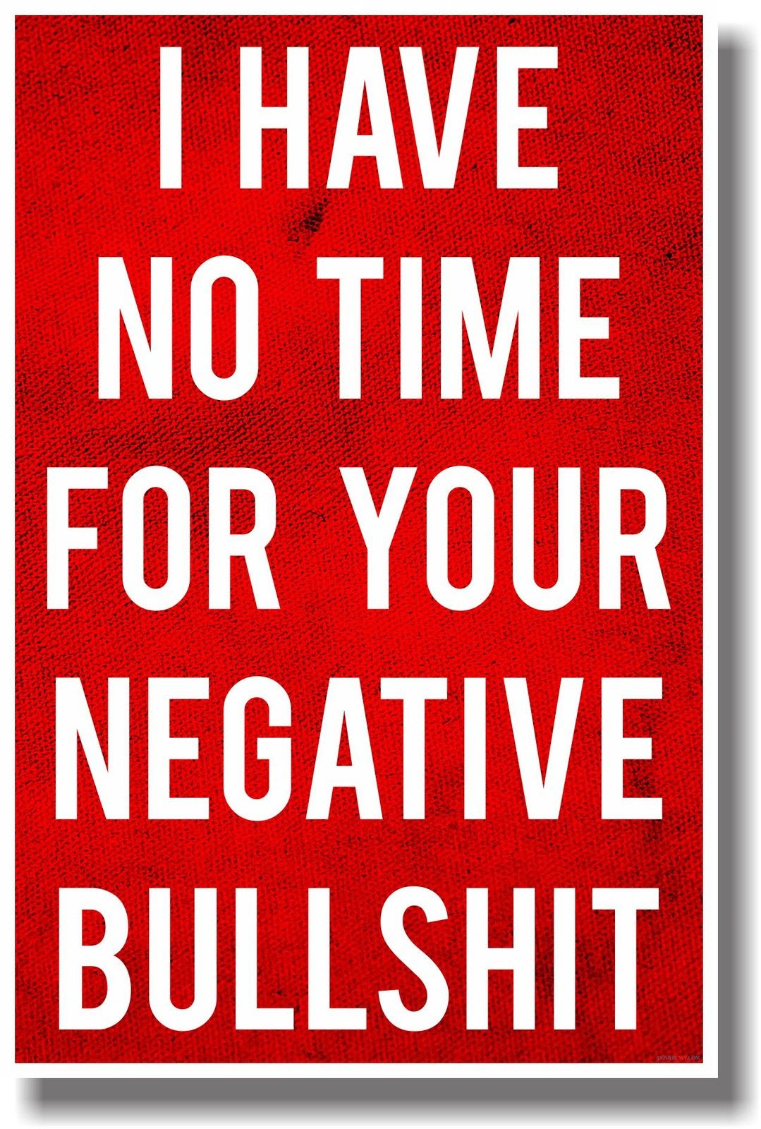 I Have No Time For Your Negative Bullshit Sticker Free Vector