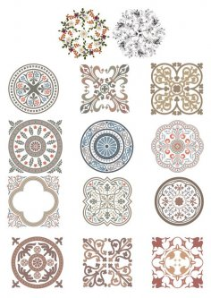 Vintage Ornaments Vector Set Free Vector
