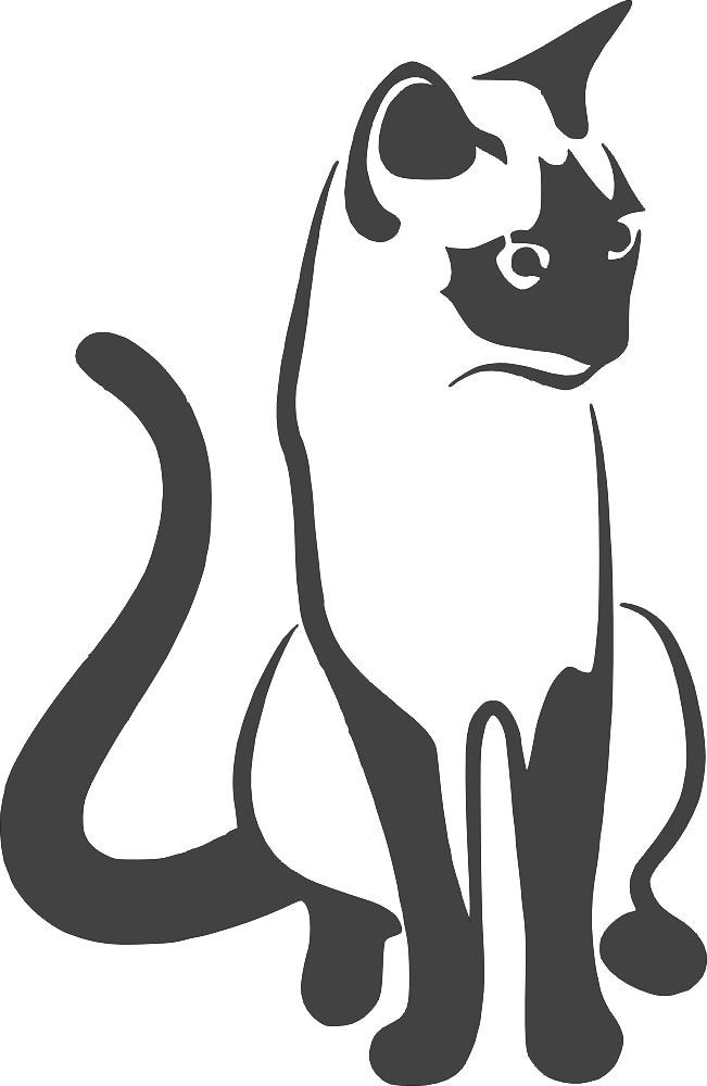 Cat Sitting 2 DXF File