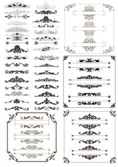 Decor Elements Collection Free Vector