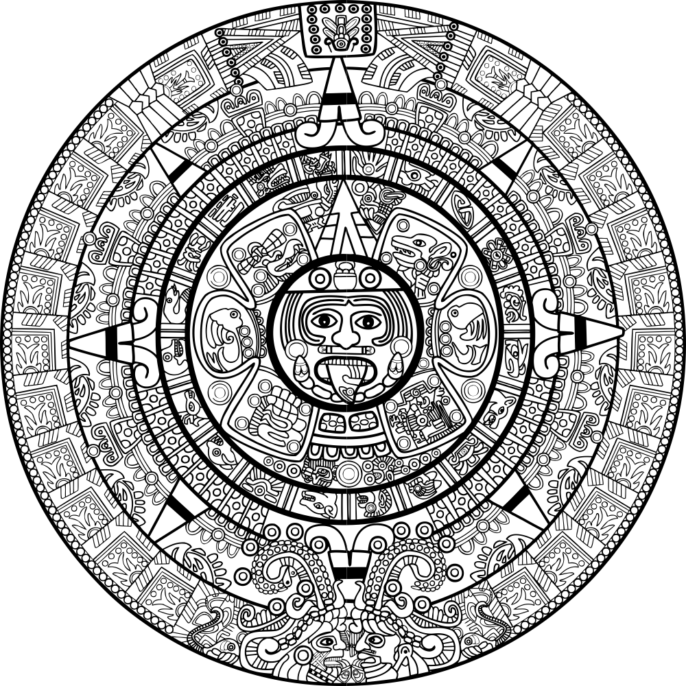 Calendar Mayan Free Vector