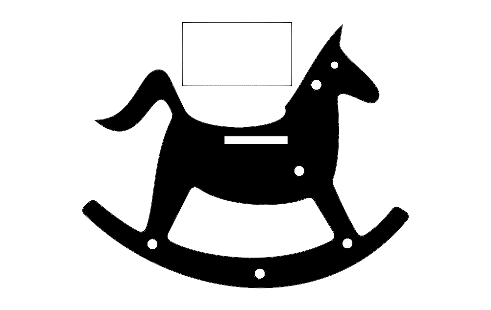 Rocking Horse Silhouette Toy dxf File