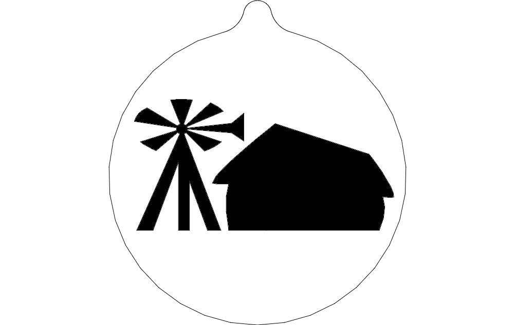 windmill ornament dxf File