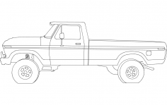 78 Ford Pickup 17 inches dxf File