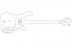 Dibujo rickenbacker dxf File