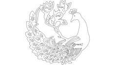 Work Peacock dxf File