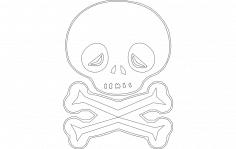 Skull Outline dxf File