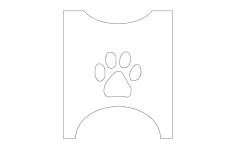 Dog bowl stand sides dxf File