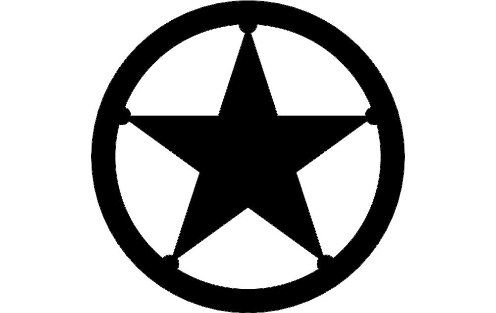 Texas Star dxf File