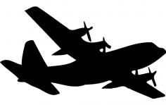 C-130 Silhouette dxf File