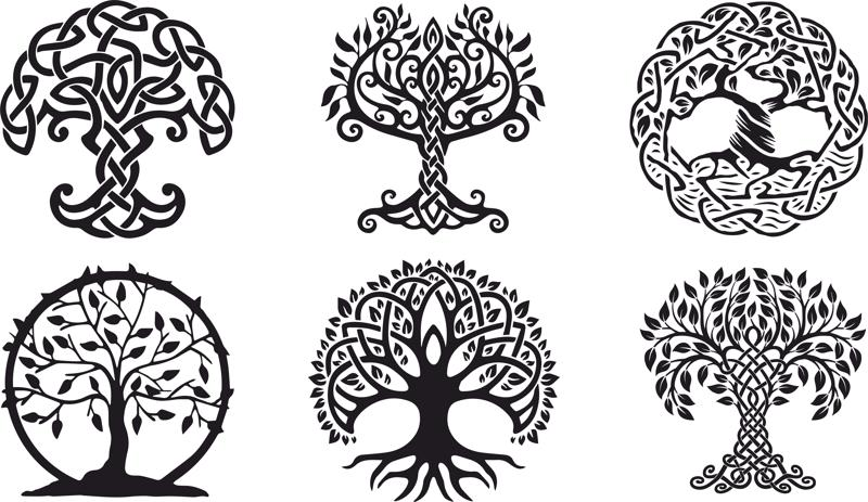 Celtic Trees vector Free Vector