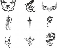 Vector Totem Tattoos Free Vector