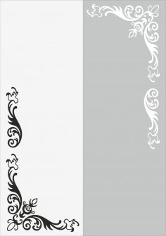 Flower Wall Decal Vector Free Vector