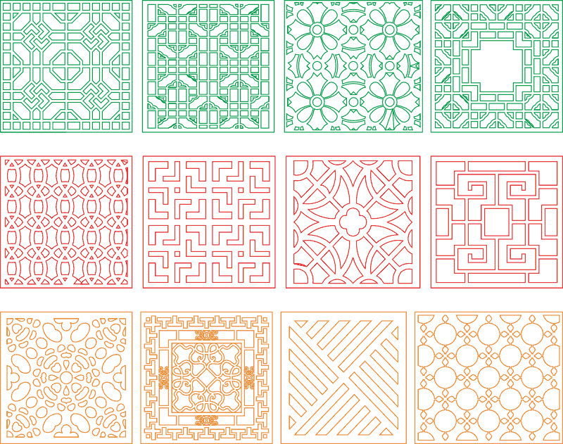 Window divider design files ready for cnc work Free Vector