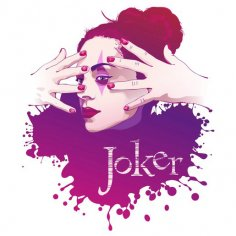 Vector women Joker illustration Free Vector
