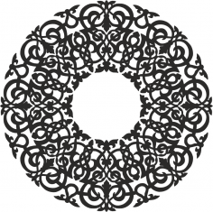 Round Abstract Pattern Free Vector