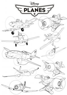 Disney Planes vector art CDR File