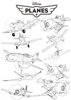 Disney Planes vector art Free Vector