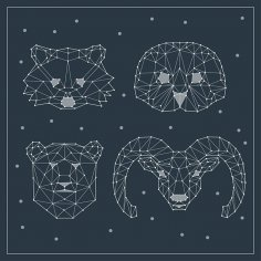 Polygonal Animals Free Vector