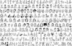 People Outline Free Vector