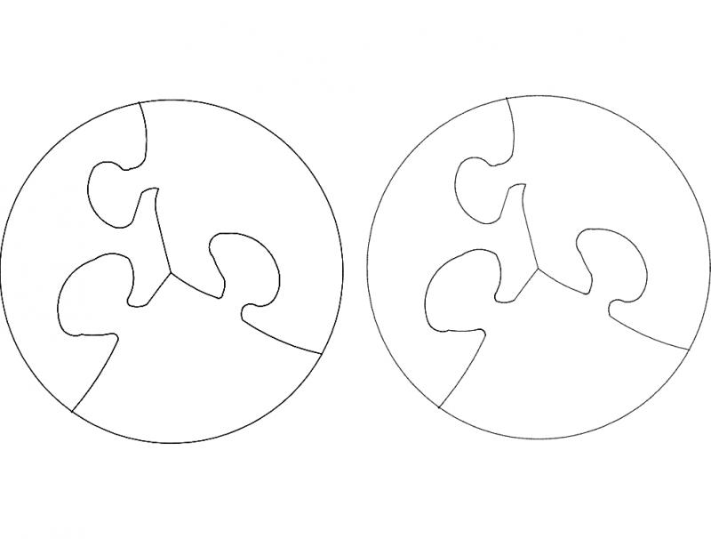 Puzzle Circular dxf File