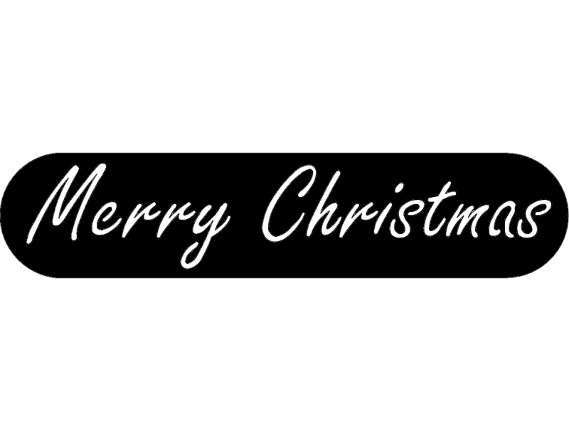 Merry Christmas dxf File