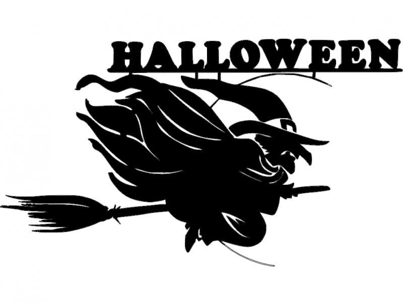 800px-halloween-witch Svg dxf File
