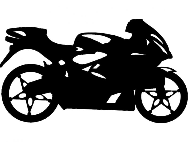 Sport Bike dxf File