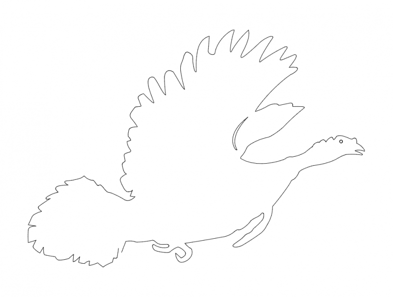 Bird running silhouette dxf File