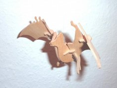 Bat 3D Puzzle DXF File