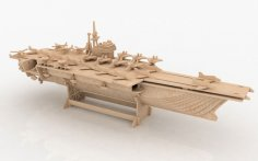Aircraft carrier 3D Puzzle DXF File